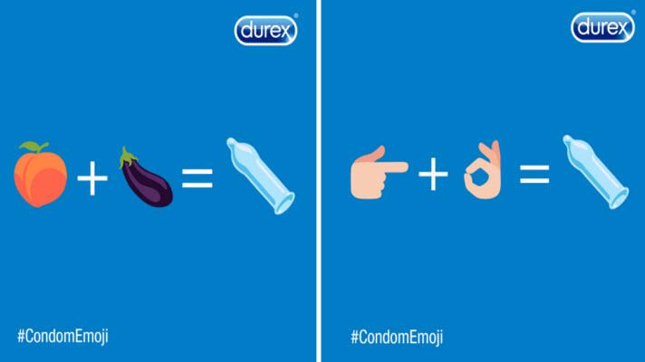 2. Durex maakt zich hard voor een condoom emoji 🍆🍑 👉👌