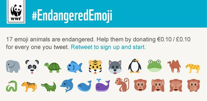 WWF gebruikt dieren emoji's om bewustwording te creëren 🐘