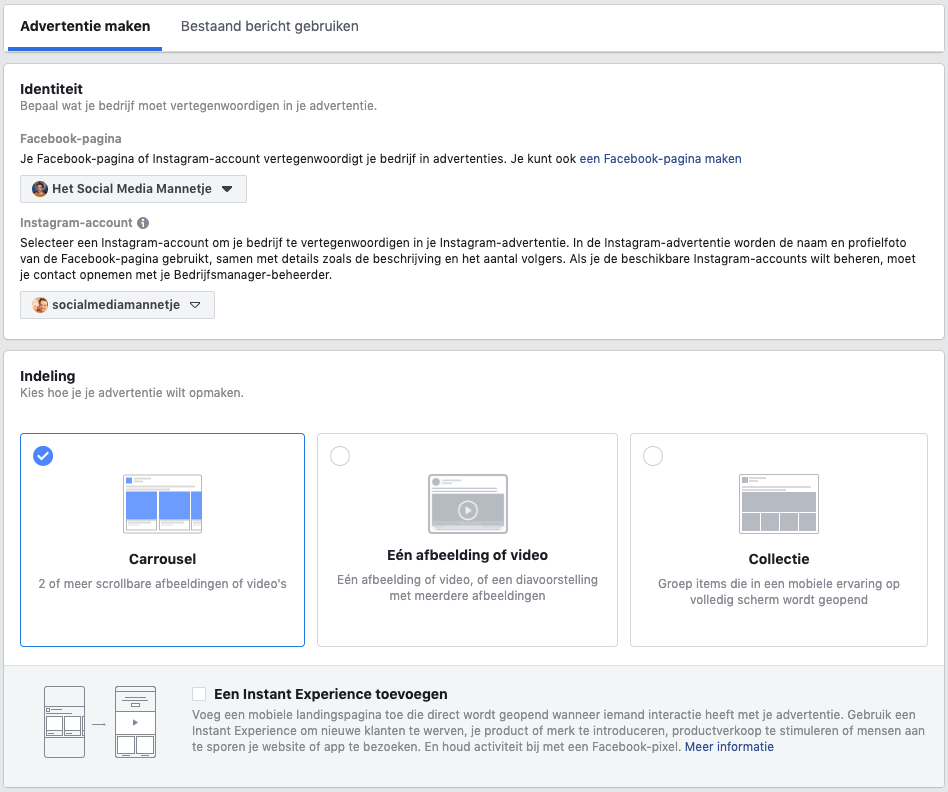 Verschillende soorten Facebook Advertenties
