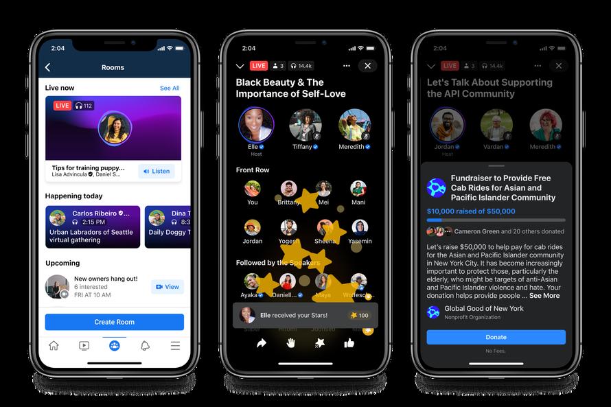 Facebook komt met alternatief voor Clubhouse - Facebook Live Audio Rooms