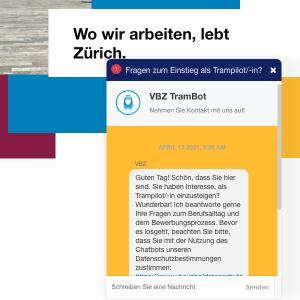 VBZ-recruitmentchatbot TramBot